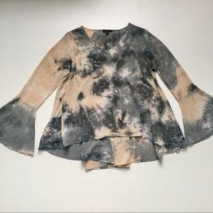 Basil Lola Anthropologie Bell Sleeve Tie Dye